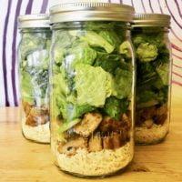 The Mason Jar Exchange Grilled Chicken Caesar Salad