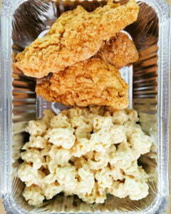The Mason Jar Exchange Kids Chicken Tenders With Mac and Cheese