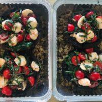 The Mason Jar Exchange Tomato and Mozzarella Stuffed Portobello Mushrooms