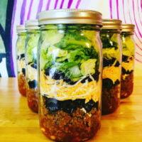 Mason Jar of taco salad